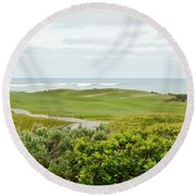 Number 1 From The Whites At Spanish Bay Round Beach Towel