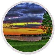 Number 4 The Landing Reynolds Plantation Golf Art Round Beach Towel