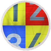 Numbers Round Beach Towel