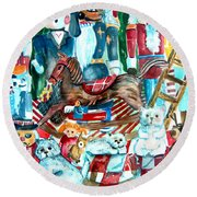 Nutcracker Suite Round Beach Towel