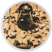 Nuts About Vintage Still Life Art Round Beach Towel