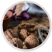 Nuts And Spices Series - Six Of Six Round Beach Towel