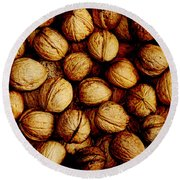 Nuts Round Beach Towel