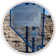 Nv-142 Old Spanish Trail Mountain Springs Pass Round Beach Towel