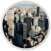 Nyc 3 Round Beach Towel
