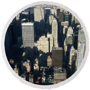 Nyc 5 Round Beach Towel