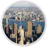Nyc 6 Round Beach Towel