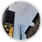 Nyc-and The Other Was Round Beach Towel