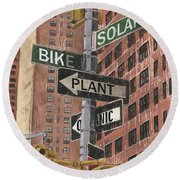 Nyc Broadway 2 Round Beach Towel