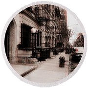 Nyc Neighborhood Series Round Beach Towel