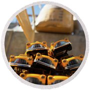 Nyc Taxi Round Beach Towel