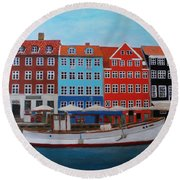Nyhavn Copenhagen Round Beach Towel