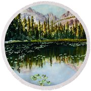 Nymph Lake Round Beach Towel
