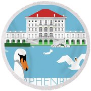 Nymphenburg Palace Round Beach Towel