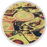 Nz Post Background Round Beach Towel