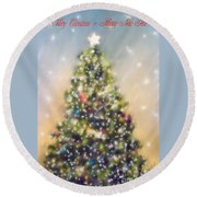 O Christmas Tree Round Beach Towel