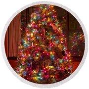 O Christmast Tree Round Beach Towel