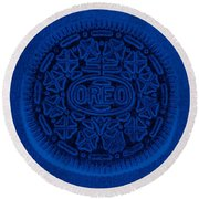 O R E O In Blue Round Beach Towel