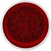 O R E O In Red Round Beach Towel