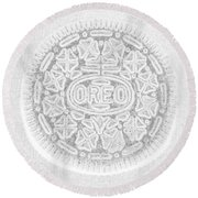 O R E O In White Round Beach Towel