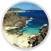 Oahu, Beach Goers Round Beach Towel