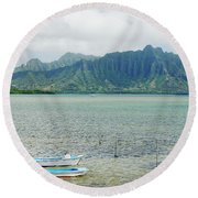 Oahu, Kaneohe Bay Round Beach Towel