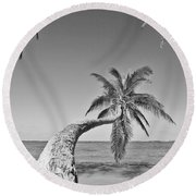 Oahu Palms Round Beach Towel