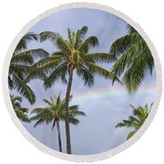 Oahu, Rainbow Round Beach Towel