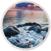 Oahu Shoreline Round Beach Towel