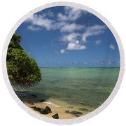 Oahu's East Coast 5 Round Beach Towel