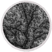 Oak Abstract Round Beach Towel
