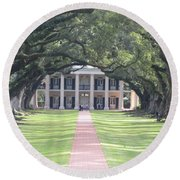 Oak Alley Plantation Round Beach Towel