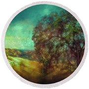 Oak Art Round Beach Towel