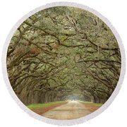 Oak Avenue Round Beach Towel
