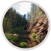 Oak Creek Round Beach Towel
