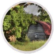 Oak Framed Barn Round Beach Towel by Benanne Stiens
