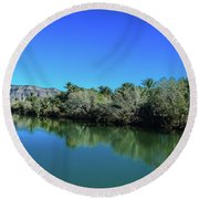 Oasis Reflection Round Beach Towel