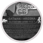Oatman Arizona Round Beach Towel