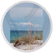 Oats On The Sand Round Beach Towel