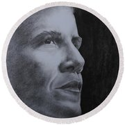 Obama Round Beach Towel by Lise PICHE