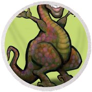 Obama Saurus Rex Round Beach Towel