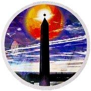 Obelish Eclipse Round Beach Towel