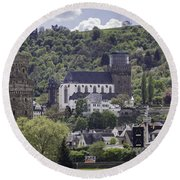 Oberwesel Old And New Round Beach Towel