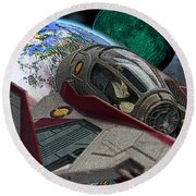 10108 Obi-wan's Starfighter Round Beach Towel