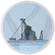 Obscured By Snow Two Round Beach Towel