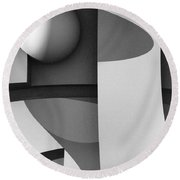 Obscured Relations Round Beach Towel