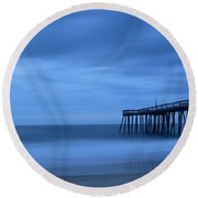 Ocean City Pier 2 Round Beach Towel