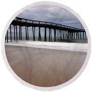 Ocean City Pier 3 Round Beach Towel