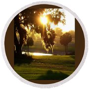 Ocala Sunset Round Beach Towel