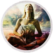 Occult Round Beach Towel